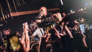 Jaden Smith, durante su actuación el viernes en la Sala Sutton de Barcelona.