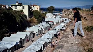 Campo de refugiados en la isla de Chios.