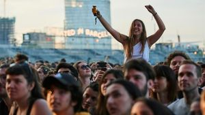 El público en un concierto de Primavera Sound.