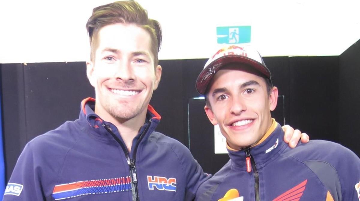 El norteamericano Nicky Hayden y Marc Márquez, enAustralia.
