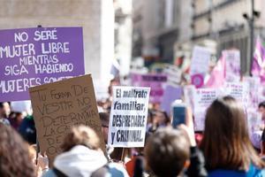 Manifestación del 8M en Madrid.