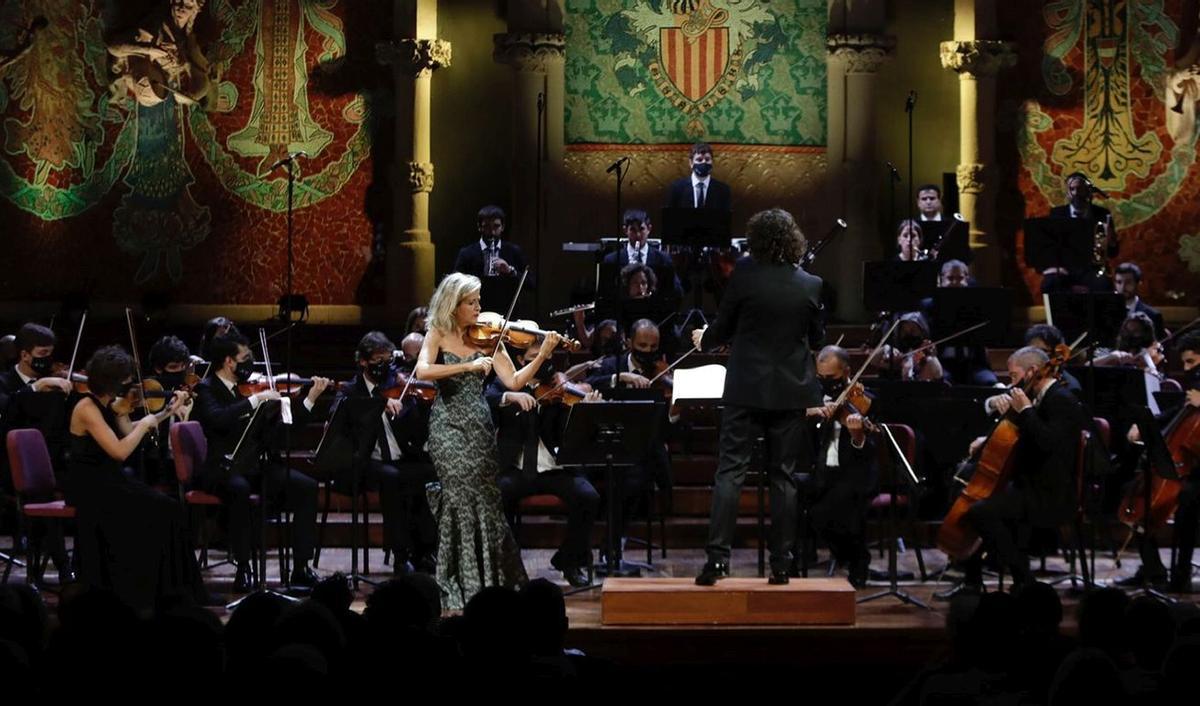 La violinista Anne-Sophie Mutter, el miércoles, en el concierto que ofreció con la Orquestra Camera Musicae en el Palau de la Música Catalana.