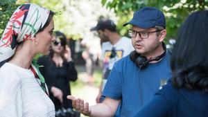 El director Corneliu Porumboiu en un momento del rodaje de 'La Gomera'.