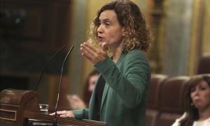 La ministra Meritxell Batet, en su debate con Juan Carlos Girauta (Cs).