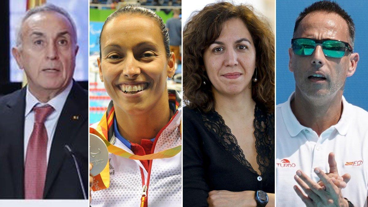 Alejandro Blanco, Teresa Perales, Irene Lozano y David Martín.