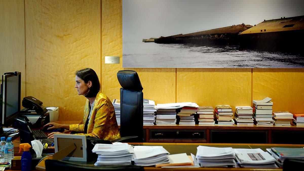 Laministra de Industria, Comercio y Turismo, Reyes Maroto, en una entrevista con EL PERIÓDICO.