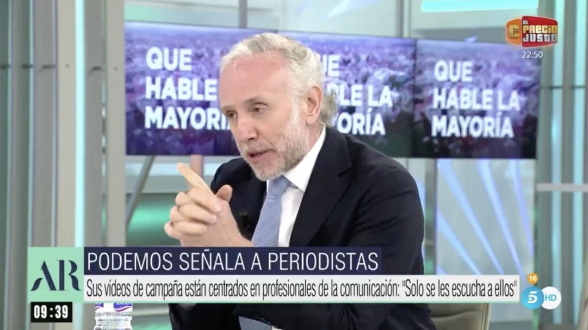 Eduardo Inda en 'El programa de Ana Rosa'