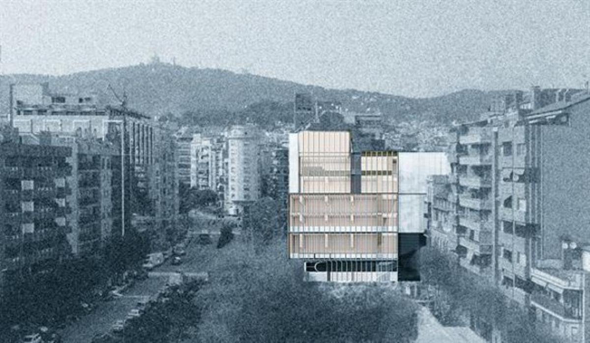 Imagen virtual de la futura sede del Col·legi d'Economistes.