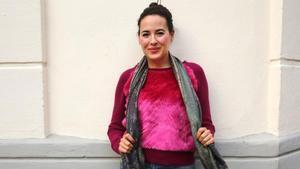 La escritora Marina Perezagua, en Barcelona.