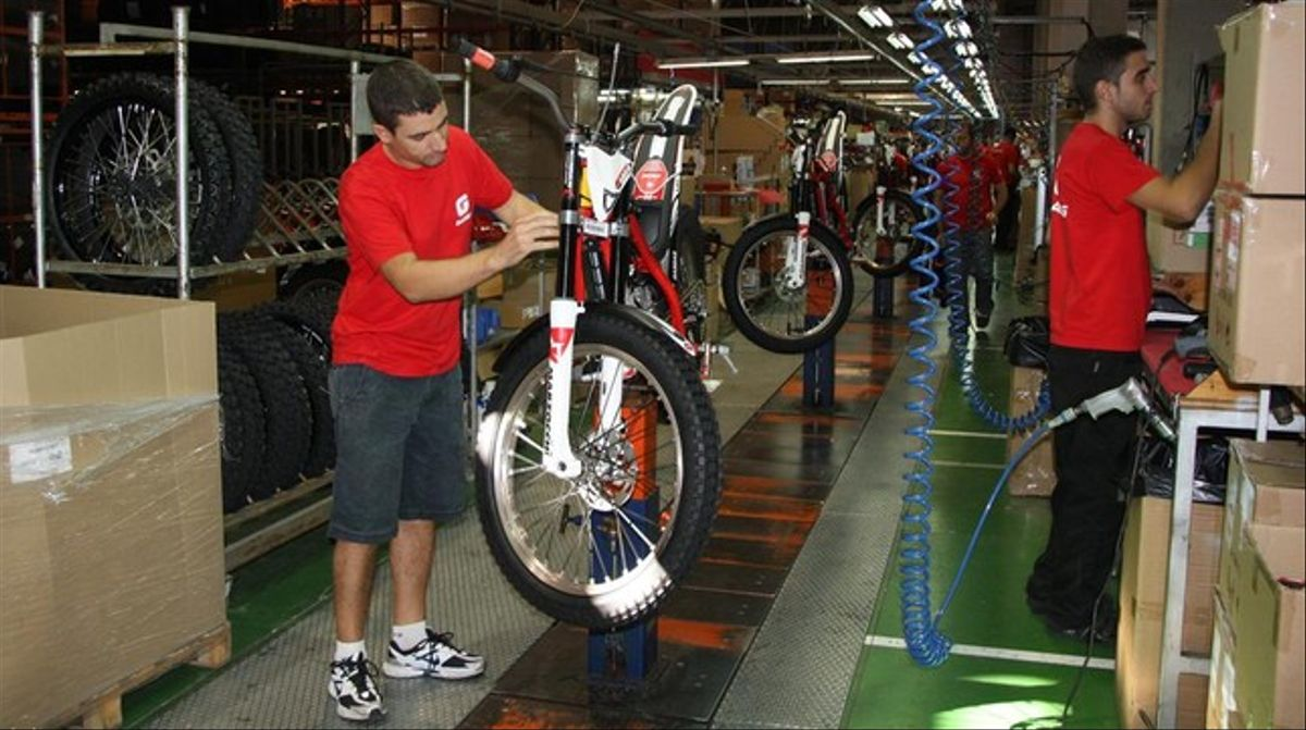 La fábrica de motos de Gas Gas, en Salt.
