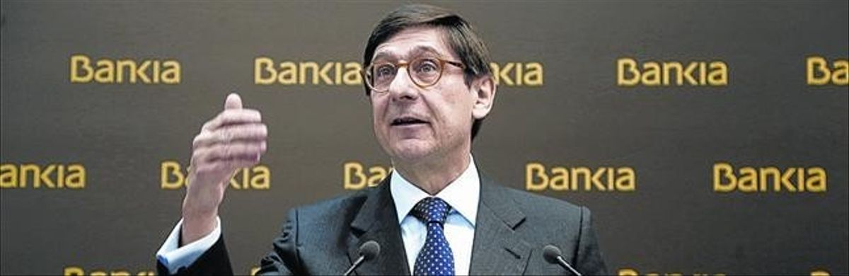 José Ignacio Goirigolzarri, presidente de Bankia, en una presentación de resultados.