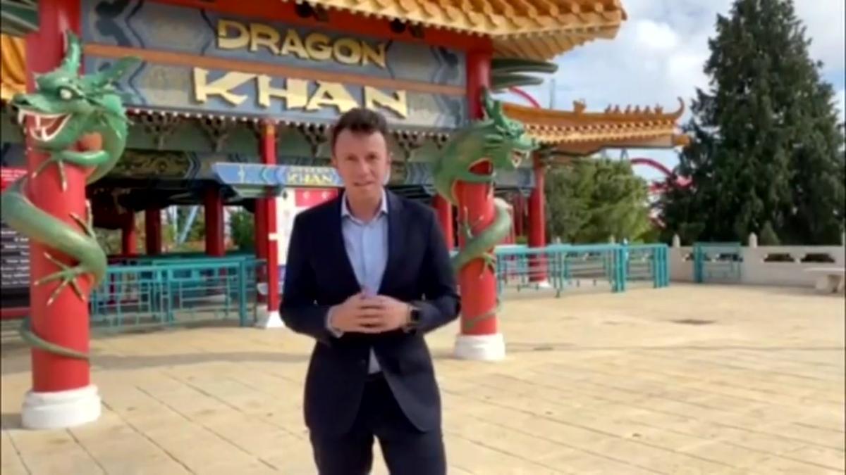 David García, director general de negocio de PortAventura World, valora la reapertura del parque.