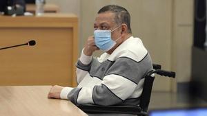 El excoronel Inocente Montano, en el inicio del juicio en la Audiencia Nacional el pasado lunes.