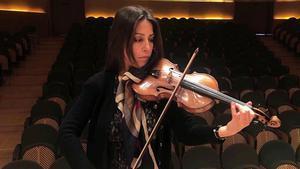 El arte de la violinista Leticia Moreno con la OBC