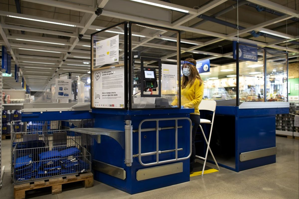 Zona de cajas de Ikea.