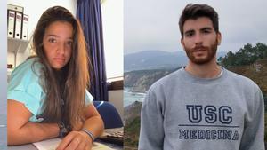 Pablo Souto e Isabel Piñeiro, estudiantes de MIR.