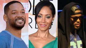 Will Smith, Jada Pinkett Smith y el cantante August Alsina.