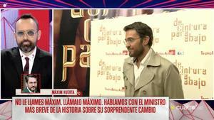 Risto Mejide habla con Màxim Huerta en 'Todo es mentira'.