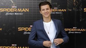 El actor británico Tom Holland, en Madrid, donde presentó 'Spider-Man: Homecoming'
