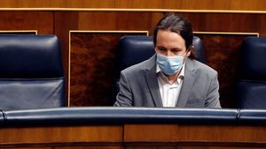 Pablo Iglesias, en el Congreso, el pasado 13 de mayo