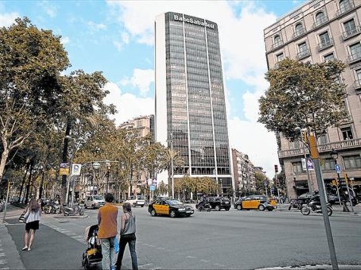 La sede central de Banc Sabadell en Barcelona.