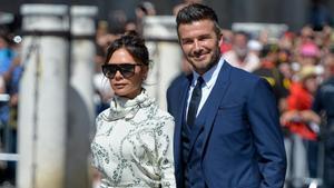 David y VictoriaBeckham, en el 2019.