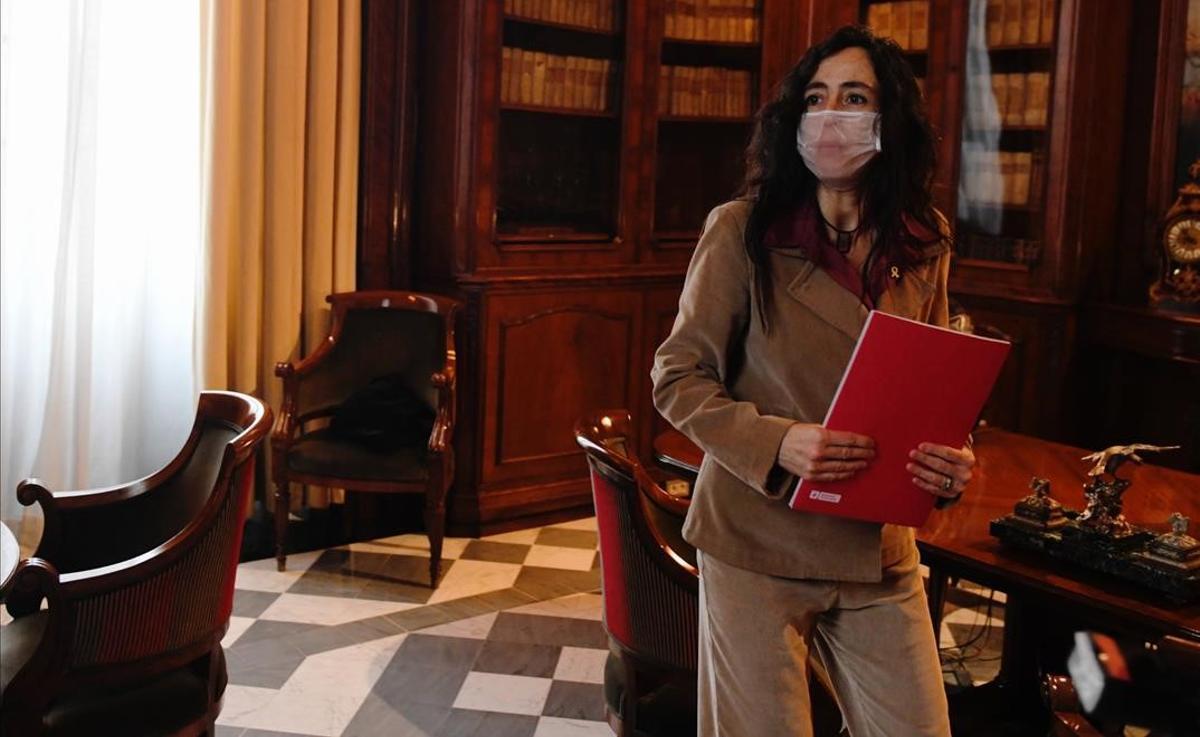 Mònica Roca, en uno de los despachos de la Llotja de Mar, antes de tomar el relevo en la presidencia de la Cambra de Comerç de Barcelona.