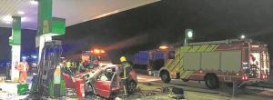 Un xoc contra una gasolinera, investigat com a crim masclista