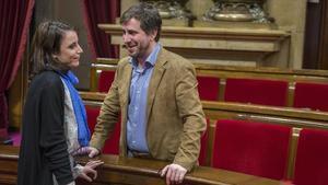Tensa discussió entre Toni Comín i Andrea Levy