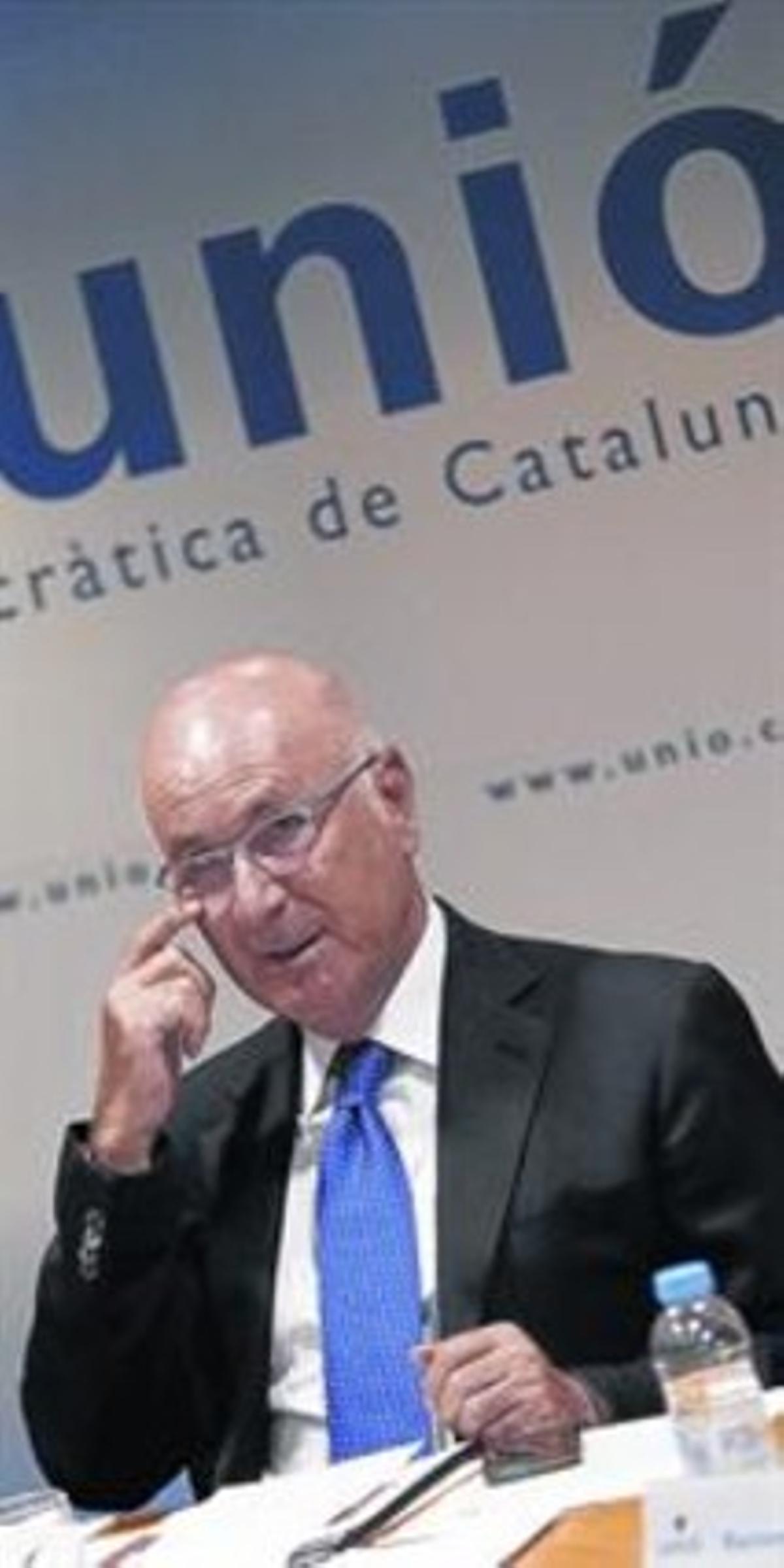 Josep Antoni Duran Lleida, enuna reunión de la dirección de Unió.