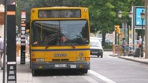 Un autobús urbano de Lleida.