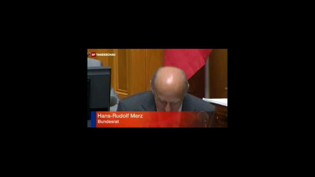 Respuesta de Merz en el parlamento suizo.