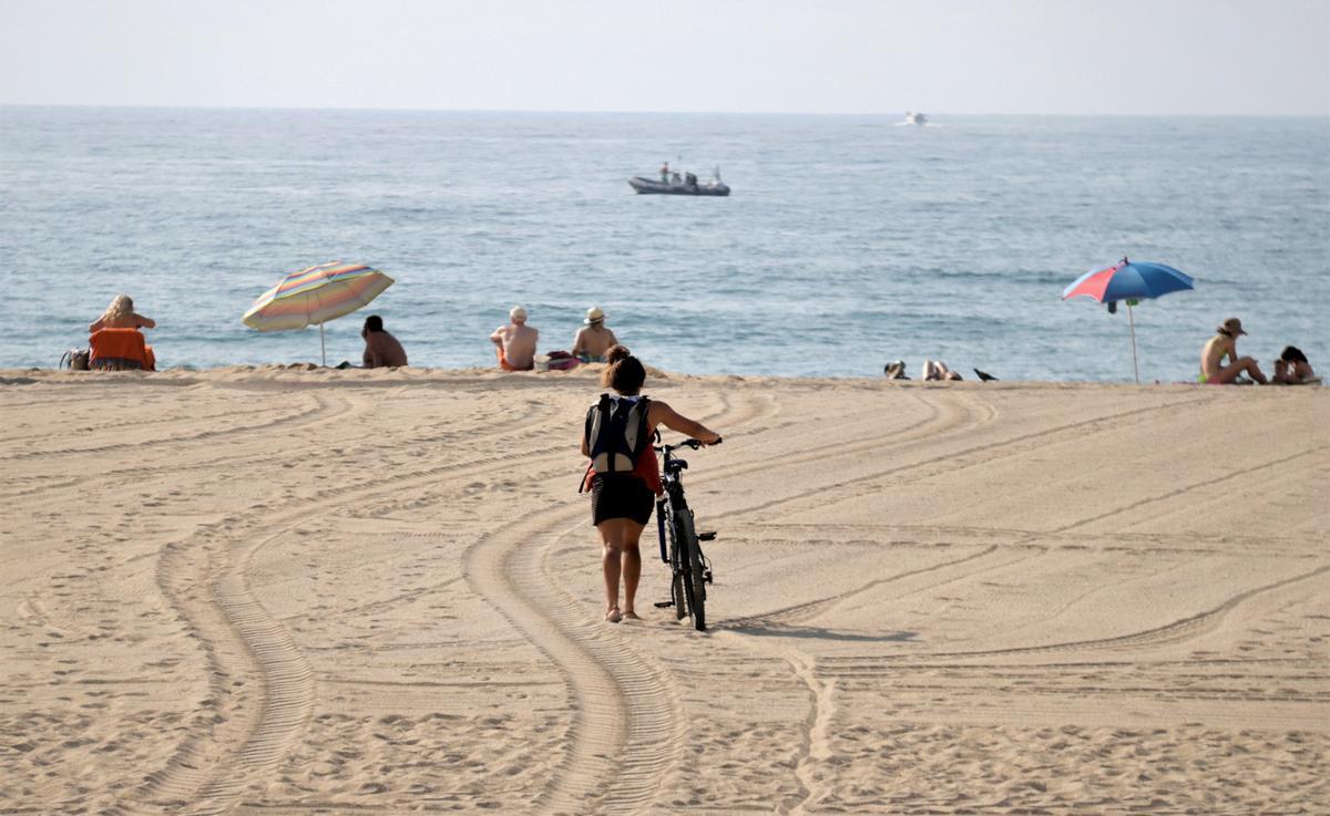 La playa del Varador de Mataró.