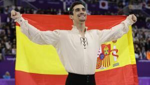 Javier Fernández, tras ganar la medalla de bronce.