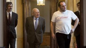 Jordi Pujol acompañado por David Fernández