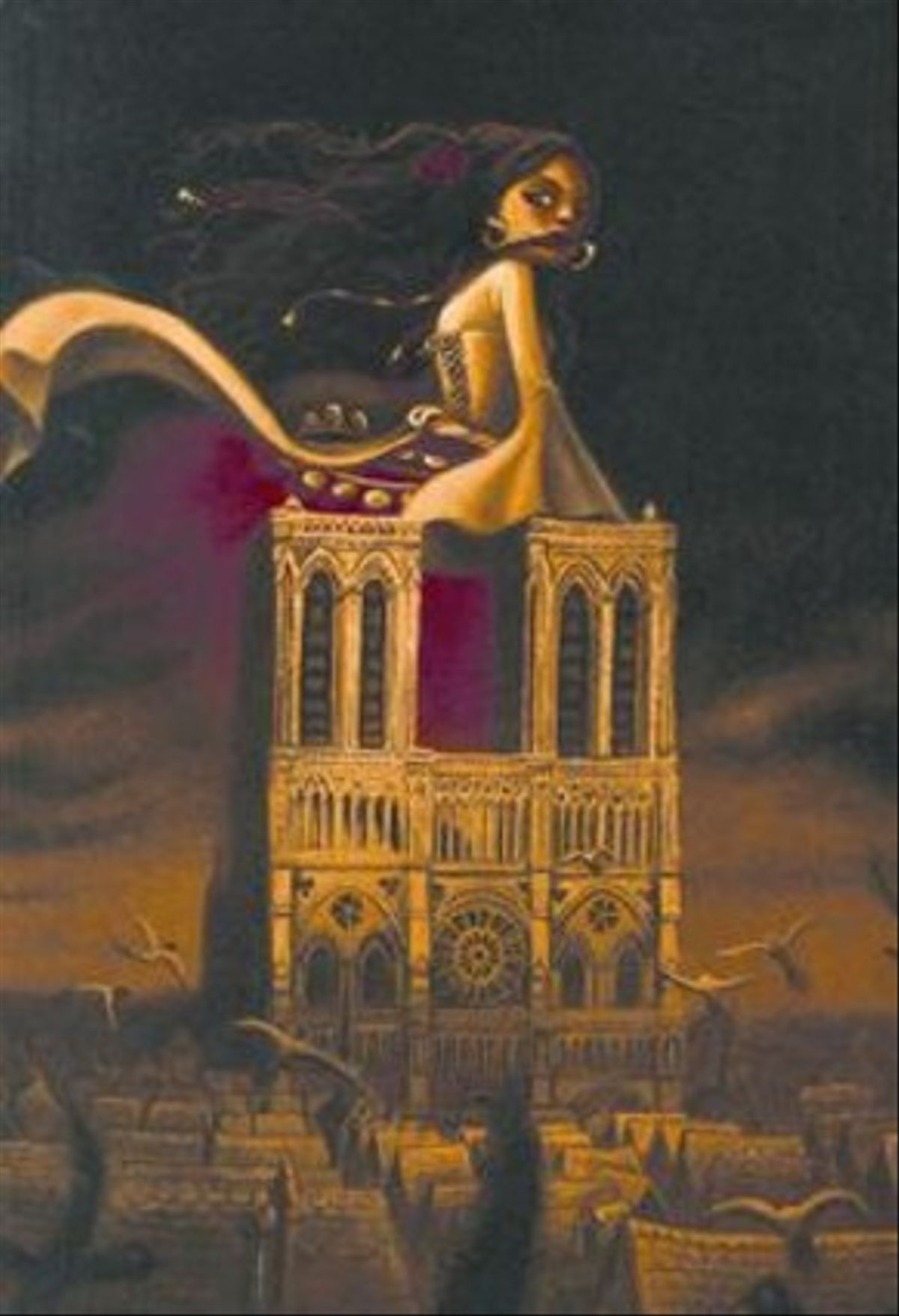 Una de las visiones de Benjamin Lacombe de 'Nuestra Señora de París'.