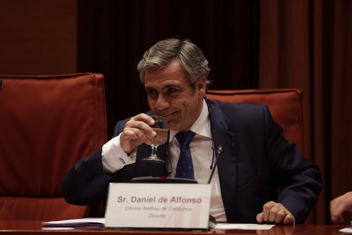 Daniel de Alfonso, el ya exdirector de la Oficina Antifrau de Catalunya, durante su comparecencia en el Parlament.