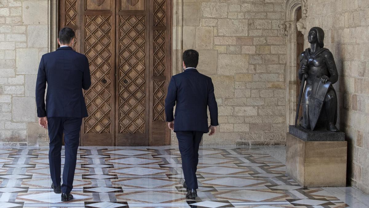 Aragonès dice que las reuniones de la mesa de diálogo serán públicas cuando haya acuerdo
