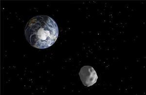 Imatge d'una recreació distribuïda per la NASA que representa el pas d'un asteroide.