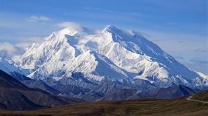 Panorámica del monte Denali, antes McKinley, en el sur de Alaska.