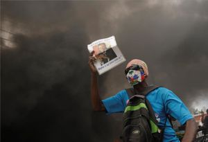 Protestas sociales en Haití.