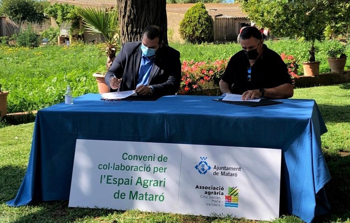 Acuerdo para el impulso y mejora del espacio agrario de las Cinc Sénies de Mataró.