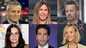Matt LeBlanc, Jennifer Aniston, Matthew Perry, Courteney Cox, David Schwimmery Lisa Kudrow, en la actualidad.