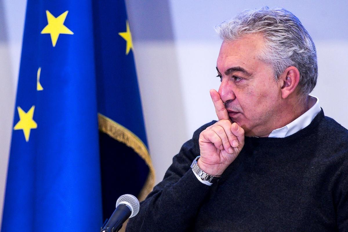 Domenico Arcuri, el comisario extraordinario nombrado por el Gobierno anterior para gestionar la pandemia y que ha sido cesado por Draghi.
