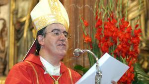 Josep Àngel Saiz Meneses, en su primera misa como obispo de Terrassa.