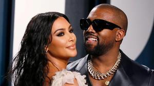 Kim Kardashian y Kanye West, en una imagen de febrero pasado.