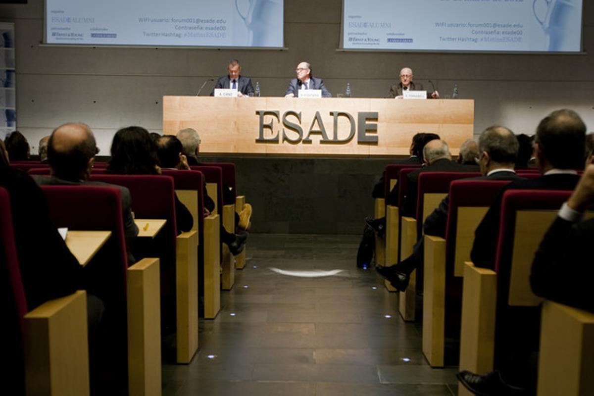 Conferencia en ESADE, el pasado marzo.