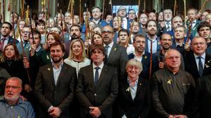 Puigdemont, tras el acto con los 200 alcaldes en Bruselas.