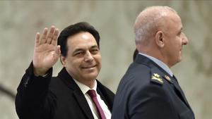 El primer ministro libanés en funciones,  Hassan Diab, en una fotografía del pasado mes de enero.