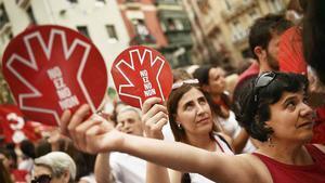 Protesta contra la violación de 'la Manada'